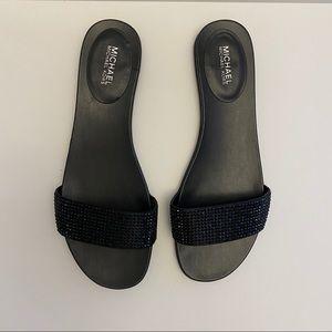 Michael Michael Kors Black Slide Sandals Size 10M